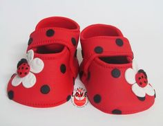 Ladybug shoe topper super cute mary jane with by LoveTheTopper: