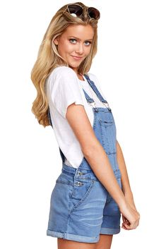 Womens Ladies Denim Dungaree Overalls Shorts Dress Jumpsui Playsuit High Waist Mini Suspender Skater Skirt Shorts Casual Button Camisole Solid High Waist Summer Short Jumpsuit