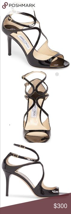 c73705e5cf Black Ivette Sandal JIMMY CHOO Sinuous straps crisscross and curve across a  showstopping sandal handmade in