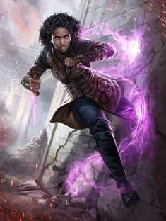 'Kaya, Bane of the Dead' by Magali Villeneuve, card art for the 'War Of The Spark' expansion set, released May 3 2019 by Magic: The Gathering Fantasy Character Design, Character Creation, Character Design Inspiration, Character Concept, Character Art, Concept Art, Dnd Characters, Fantasy Characters, Female Characters