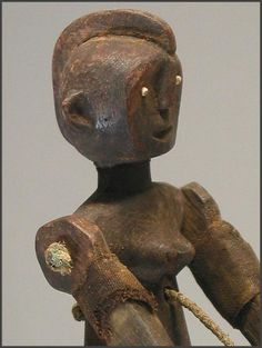 Marionette figures from the Nyamwezi people of Tanzania