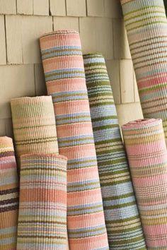 #DashAndAlbert Caravan Stripe Woven Cotton Rug