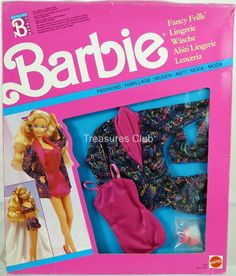 Barbie Fancy Frills Lingerie Foreign Fashions #5290 New in Pack 1990 Mattel 3+