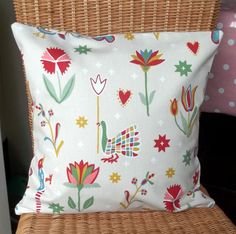 Gorgeous 16'' pillow cover in cream canvas fabric by TakeTwoUK, £10.00