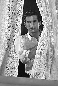"""Anthony Perkins as 'Norman Bates' in """"Psycho"""" - Alfred Hitchcock Norman Bates, Anthony Perkins, Alfred Hitchcock, Scary Movies, Old Movies, Great Movies, Indie Movies, Robert Bloch, Martin Scorsese"""