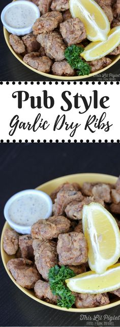 The BEST Pub Style Garlic Dry Ribs - This Lil Piglet Rib Recipes, Cooking Recipes, Smoker Recipes, Cooking Tips, Recipies, Garlic Ribs Recipe, Deep Fried Pork Ribs Recipe, Pork Riblets Recipe, Ribs In Oven