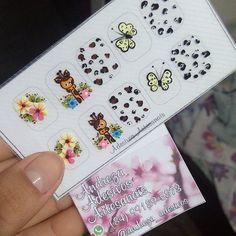 Uma das cartelas que estão sendo sorteadas no @_gk_makeup!!!!  #adesivosartesanais #nailart