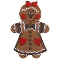 Food Appliques - Gingerbread Girl