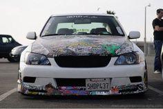 Cars #Cars #GearHead #Subaru #AWD #Racecar #Slammed #StickerBomb