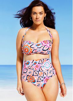 8072f05b26534 33 Bangin' Swimsuits For Girls With Big Boobs. Plus Size Two PieceBoho ...