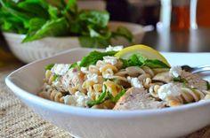 Lemon, Fresh Basil and Chicken FusilliPasta