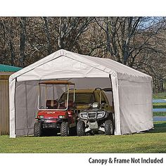 ShelterLogic 12 x 30 Canopy Enclosure Kit-430877 - Gander Mountain & ShelterLogic Super Max Canopy Replacement Cover 12u0027 x 26u0027-430341 ...