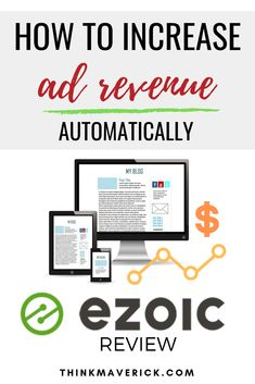How to automatically increase your Adsense ad revenue. Looking for ways to increase your Adsense Ad revenue and improve user experience such as time on site, page views per visit, and bounce rate? Ezoic can help! With Ezoic, you can instantly increase yo Make Money Blogging, Make Money Online, How To Make Money, Best Ads, Work From Home Moms, Affiliate Marketing, Online Business, Business Tips, Things That Bounce