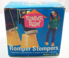 Vintage 1970 Romper Room Romper Stompers - Had these! Can't believe I never sprained my ankle!