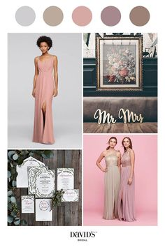Neutral shades look lovely in any setting. Explore wedding colors and create the palette of your dreams at davidsbridal.com.