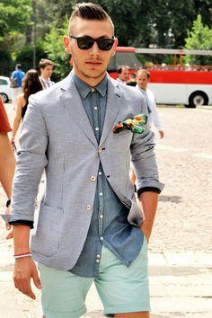 Blazer, Handkerchief & Denim Shirt