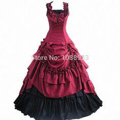 Gothic lolita robe princesse adultes costume bleu robe de bal robe du sud victorien. déguisements costumes dans de sur Aliexpress.com