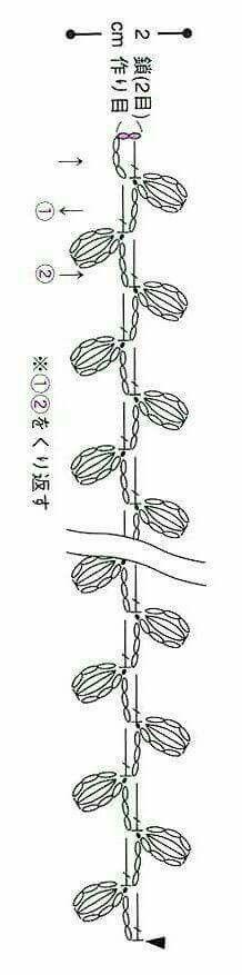 No pattern, b Crochet Cord, Crochet Lace Edging, Crochet Diy, Crochet Leaves, Crochet Borders, Crochet Flower Patterns, Crochet Bracelet, Crochet Diagram, Crochet Doilies