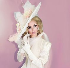 """Category Is: Hats Incredible! Well I Do Declare! This whole journey that we all call """"Drag Race"""" can be summed up in a few words:… Blair St Clair, Drag Queen Outfits, Rupaul Drag Queen, Queen Makeup, Queen Costume, Racing, The Incredibles, Drag Queens, Celebrities"""