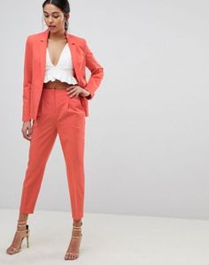 Buy ASOS Mix & Match Highwaist Cigarette Trousers at ASOS. Get the latest trends with ASOS now. Asos, Cigarette Trousers, Look Chic, Work Attire, Ladies Dress Design, Suits For Women, Bunt, Cute Dresses, Work Wear