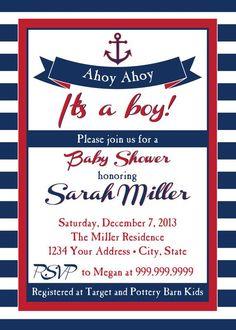 Ahoy its a boy baby shower invitation nautical baby shower ahoy its a boy baby shower invitation nautical baby shower invitation sail boat party ahoy nautical party sailor theme invitation a few of my favorite filmwisefo
