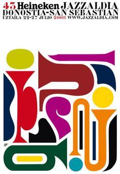 San Sebastian's Jazz Festival poster 2008