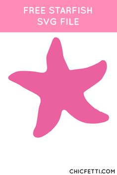 Free Starfish SVG File from @chicfetti - works with Silhouette and other SVG cutting machines