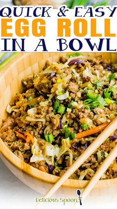Egg Roll in a Bowl is a simple, keto Asian-inspired dinner ready in just 20 minutes! It takes all the ingredients of your favourite egg roll and turns them into a filling, low-carb lunch or dinner. Perfect for meal prep! This Keto Egg Roll in a Bowl is the quick and healthy dinner of my dreams. It has all of the things I love about ordering Asian takeout, without leaving my house and it's ready in less time than delivery would take. | @thedeliciousspoon #besteggrollinabowl #quickfamilydinner Best Easy Dinner Recipes, Asian Dinner Recipes, Easy Asian Recipes, Easy Healthy Dinners, Good Healthy Recipes, Healthy Breakfast Recipes, Clean Eating Recipes, Summer Recipes, Quick Family Dinners