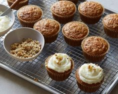 Get Ellie Krieger's Carrot Cupcakes with Cream Cheese Frosting Recipe from Food Network