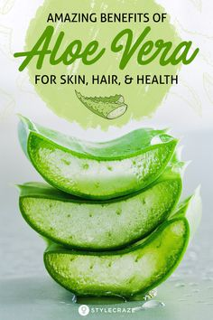 The incredible Aloe Vera needs no introduction. Its benefits are well-known, which is why it has earned a permanent place in many a household. Be it a sunburn or a bad case of acne, aloe vera is a treatment you can always rely on Aloe Vera For Skin, Aloe Vera Skin Care, Aloe Vera Gel, Beneficios Aloe Vera, Health And Nutrition, Health Tips, Nutrition Guide, Calendula Benefits, Aloe Benefits
