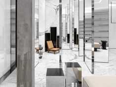 Saint Laurent Miami Design District Another Something Commercial Design, Commercial Interiors, Store Concept, Saint Laurent Store, Miami Store, New Saints, Retail Interior, Design Furniture, Furniture Ideas