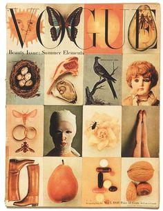 Estas eran portadas ...Vogue 1946 Summer cover by Irving Penn   Looks like a treasury list on Etsy