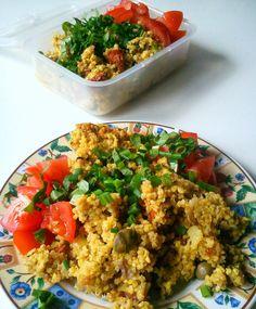 WEGANIZM UDOMOWIONY: Jaglanica Fried Rice, Tofu, Fries, Ethnic Recipes, Kitchen, Cooking, Kitchens, Cuisine, Nasi Goreng
