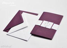 Zaproszenie ślubne astral folderze folder kieszonką eleganckie glamour elegancki wymiarach 5x15