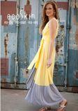 Sunshine/Charcoal Dip Dye Dress by ecoSkin