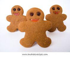 Rustic Gingerbread Men Cookies