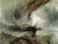 J. M. W. Turner - Storm Seam Boat off a Harbour's Mouth Making Signals in Shallow Water, and Going by the Lead [1842]