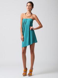 Cut25                                                            Pleat Front Draped Dress