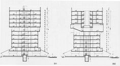 Section, Corviale, Rome Mario, Residential Complex, Social Housing, Gallery, 1975, Architectural Drawings, Design, Piano, Buildings
