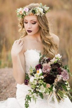 43 Gorgeous Fall Wedding Makeup Ideas | HappyWedd.com #weddingmakeup
