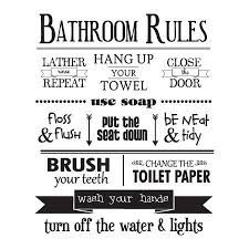 Image Result For Free Svg Bathroom Sayings Bathroom Rules