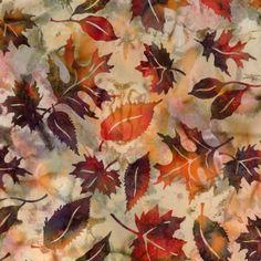 Falling Leaf Batik from Hoffman