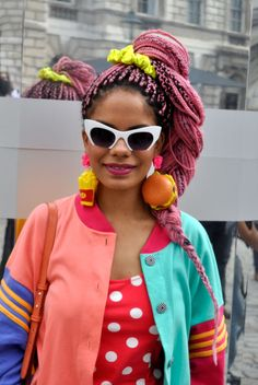 Blog LP te mostra os cabelos coloridos de diversos convidados da Semana de Moda de Londres