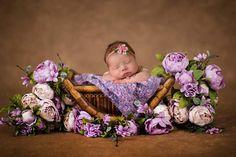 Floral Vintage Newborn Digital Backdrop/Prop soft looking