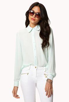 Essential PJ-inspired Shirt | FOREVER21 - 2027395222