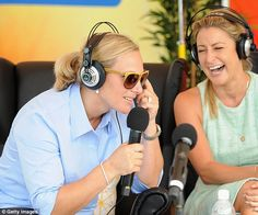 Zara wore a pair of headphones as she commentated on the day's proceedings