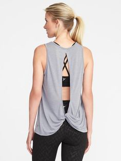 Old navy ultra light twist back tank Work out wear Work out attire  #affiliate