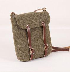 Harris Tweed Green Effie Bag by breagha on Etsy