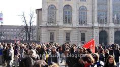 Manifestazione degli studenti torinese contro Cota