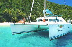 Palm Coaster - Caribbean Catamaran Sailing Charter - Sailing Trips Caribbean - St. Thomas Catamaran Vacation - Caribbean Sailing Tour